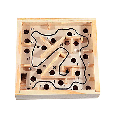 Labyrinth Holzlabyrinth Spielzeuge Spaß Holz Klassisch Stücke Kinder Geschenk
