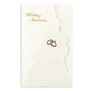 Dreifach gefaltet Hochzeits-Einladungen Einladungskarten Geblühmter Style Perlenpapier 7 1/5