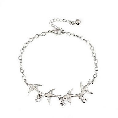 Dame Ankel / Armbånd Simuleret diamant Legering Luksus Ankel Krops Kæde / mavekæde Smykker Til Daglig Afslappet