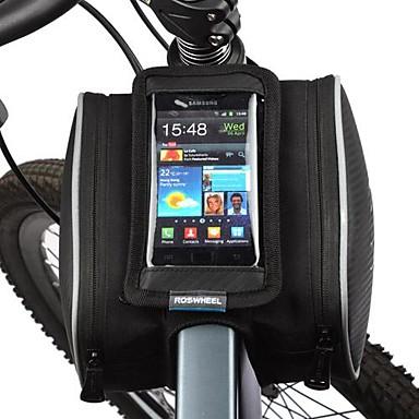 Taske til stangen på cyklen Mobiltelefonetui 5.5 Tommer Støv-sikker Touch Screen Cykling for iPhone 5/5S Iphone X Samsung Galaxy S4