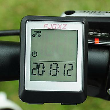 FJQXZ Fahrradcomputer Stoppuhr Wasserdicht Automatisch Ein/Ausschalten Scannen Set (km / m) SPD -Aktuelle Geschwindigkeit Nachtsicht Uhr