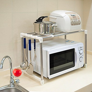 BAOYOUNI Stainless Steel Microwave Stand ...