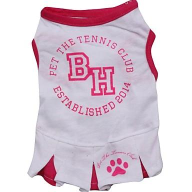 Kat Hond T-shirt Hondenkleding Letter & Nummer Wit Katoen Kostuum Voor huisdieren Zomer
