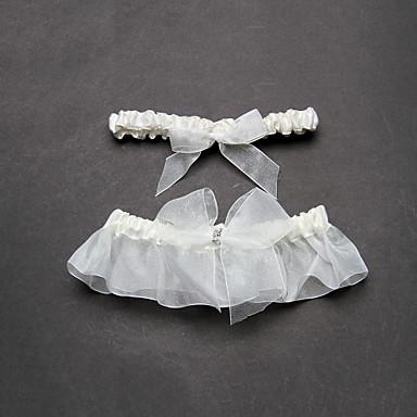 organza satin nuntă jartieră cu accesorii de nunta bowknot stil clasic elegant