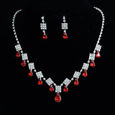 Dames Diamant Bergkristal Bruiloft Speciale gelegenheden  Verjaardag Verloving Legering Oorbellen Kettingen