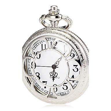 Unisex Silver Alloy Quartz Pocket Watch Cool Watches Unique Watches