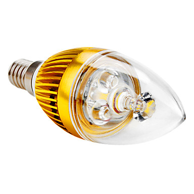 E14 3 W 3 High Power LED 300 LM Warm White C Decorative Candle Bulbs AC 85-265 V