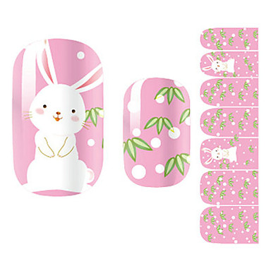 28PCS Cartoon White Rabbit Design Nail Art Stickers