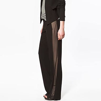 Mid Rise Micro-elastic Straight Loose Pants, Sexy Spring Summer Fall