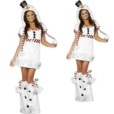 Cosplay Kostumer Dyremønster Festival/Højtider Halloween Kostumer Ensfarvet Kjole Hovedstykke Benvarmere Halloween Karneval Kvindelig