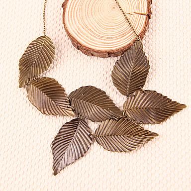 Dámské Leaf Shape Velké šperky Náhrdelníky s přívěšky Prohlášení Náhrdelníky Slitina Náhrdelníky s přívěšky Prohlášení Náhrdelníky , Párty
