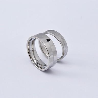 Dámské Snubní prsteny Punk Titanová ocel Kulatý Šperky Denní Ležérní
