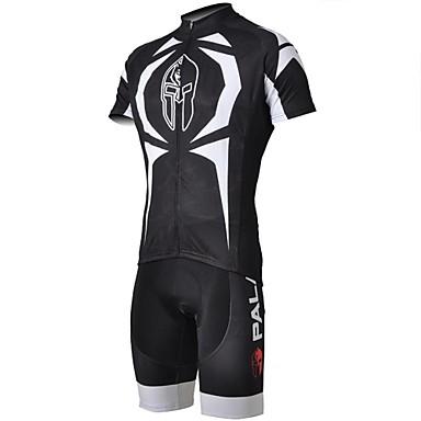 ILPALADINO Herrn Kurzarm Fahrradtriktot mit Fahrradhosen - Weiß Fahhrad Shorts/Laufshorts Trikot/Radtrikot Kleidungs-Sets, Rasche
