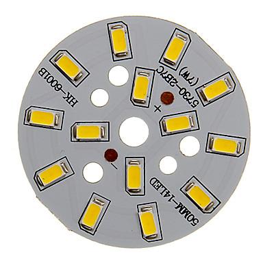 zdm 1 stück 7 watt 500-550lm 14 x 5730 smd leds patch led lichtquelle bord warmweiß licht 3000-3500 k aluminium substrat (dc21-24v, 300ma)