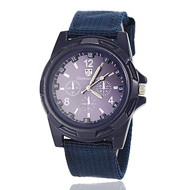 levne Vojenské hodinky-Pánské Vojenské hodinky Náramkové hodinky Letecké hodinky Křemenný Černá / Modrá / Zelená Hodinky na běžné nošení Analogové Přívěšky Klasické - Černá Zelená Námořnická modř Jeden rok Životnost baterie