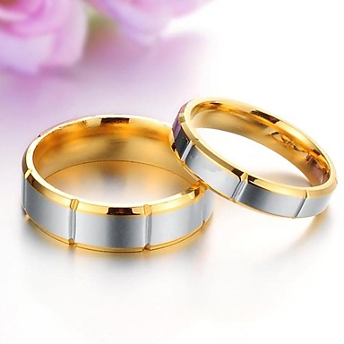 Couple's Titanium Steel Couple Rings - Fashion Ring For Wedding / Party / Daily