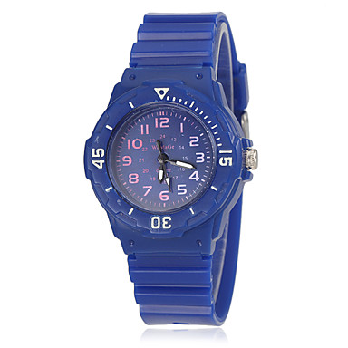 Men's Quartz Wrist Watch / Casual Watch Rubber Band Casual Fashion Cool White Blue Red Orange Yellow