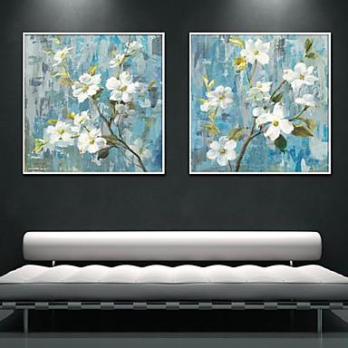 Blomstret/Botanisk Indrammet Lærred / Indrammet Sæt Wall Art,PVC Hvid Ingen Måtte med Frame Wall Art