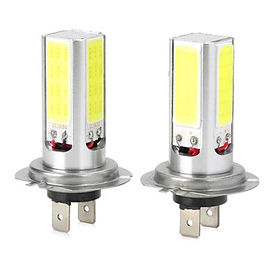 H4 H7 T20 Ampoules LED Intelligentes 4 LED COB Blanc Froid 1000-1200lm 6500K DC 12 DC 24V