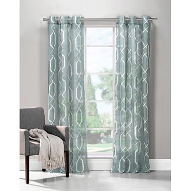Jeden panel Window Léčba Moderní , Grafika Obývací pokoj 100% polyester Polyester Materiál záclony závěsy Home dekorace