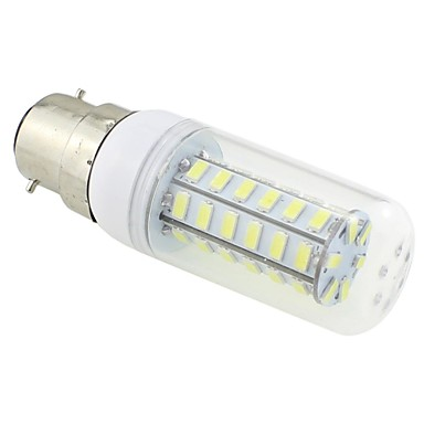 3W 5500-6500lm B22 Becuri LED Corn T 48 LED-uri de margele SMD 5730 Alb Rece 220-240V / # / CE / RoHs