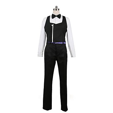 Inspirovaný Cosplay cosplay Anime Cosplay kostýmy Cosplay šaty Patchwork Dlouhý rukáv Vesta Tričko Kalhoty Pásek Pro Pánské