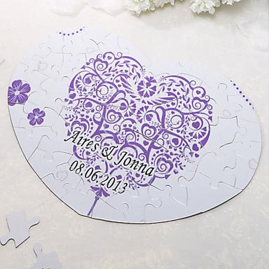 Kişiselleştirilmiş Kalp Şekilli Puzzle - Çiçek Yazdır