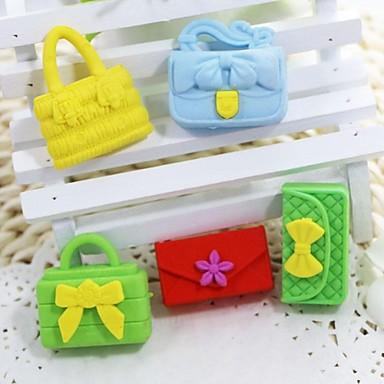 sød aftagelig håndtaske og tegnebogen formet viskelæder (tilfældig farve x 5 stk)
