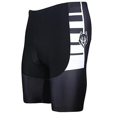 ILPALADINO Bărbați Pantaloni Scurți cu Burete Bicicletă Pantaloni scurți / Pantaloni Scurți Padded / Pantaloni 3D Pad, Rezistent la