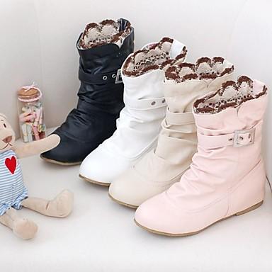 Women's Shoes Leatherette Fall Winter Low Heel 6