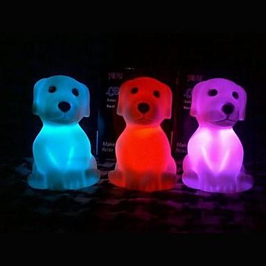 LED Night Light Vandtæt Batteri PVC 1 Lampe Batterier Inkluderet 6.0*6.0*8.5cm
