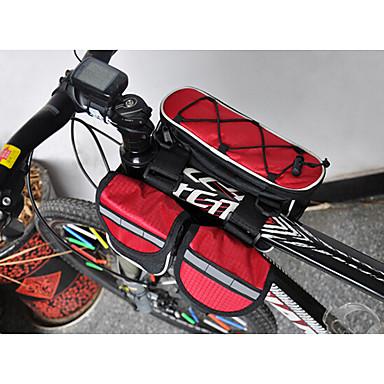 abordables Sacoches de Vélo-Acacia Sac de cadre de vélo Etanche Pluie Etanche Bandes Réfléchissantes Sac de Vélo Ripstop 600D Matériau imperméable Sac de Cyclisme Sacoche de Vélo Cyclisme / Vélo
