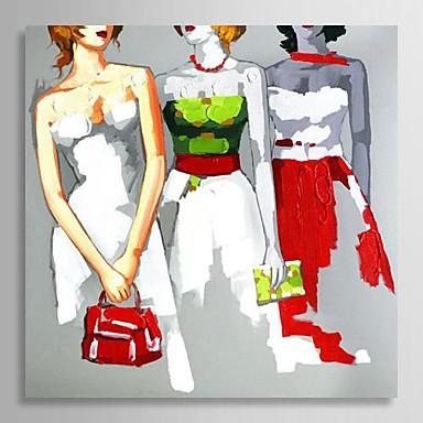 Hånd-malede Mennesker Et Panel Canvas Hang-Painted Oliemaleri For Hjem Dekoration
