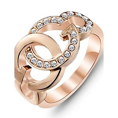 Dámské Vyzvánění Zlatá Rose Gold Pozlacené Módní Svatební Párty Denní Kostýmní šperky