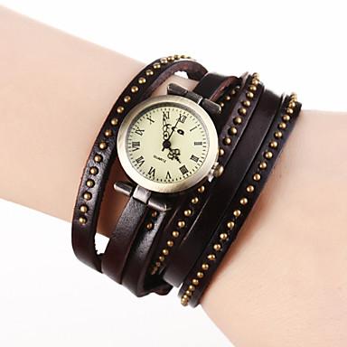 Mulan Cow Leather Vintage Watch-98 (Brown)