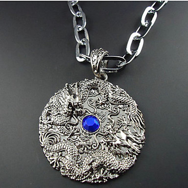 European Style Chinese Dragon Pendant Necklace