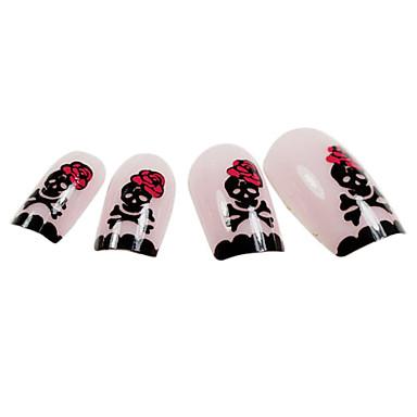 24 Nail Art Dekorace drahokamu Pearls make-up Kosmetické Nail Art design
