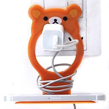 malý medvěd držák ve tvaru plastový mobilní telefon poplatek (náhodné barvy) x 1 ks