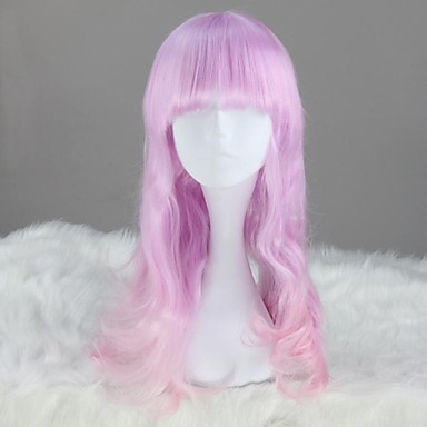 Lolita Wigs Sweet Lolita Pink Light Purple Princess Lolita Wig 60 CM Cosplay Wigs Solid Wig For