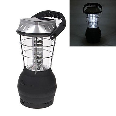 Hand Crank Solar Lantern Camping Lamp with 36 LED