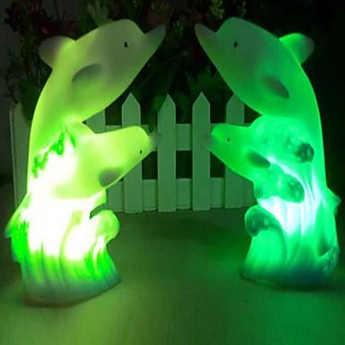 Coway Double Dolphin Farverige LED natlys