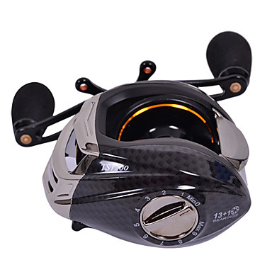Fishing Reel Baitcasting Reels 6.3:1 Gear Ratio+13 Ball Bearings Right-handed Sea Fishing - TS1200