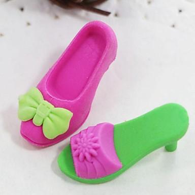 søde aftagelige højhælede sko og støvle formet viskelæder (tilfældig farve x 4 stk)