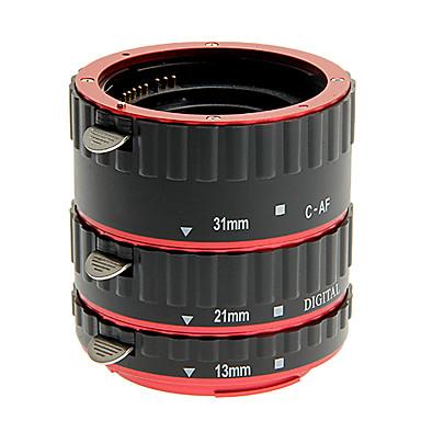 hliníková slitina 3-dílný makro mezikroužek sada pro Canon (zlatá, stříbrná, červená, modrá)