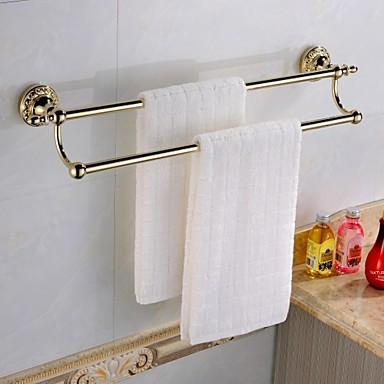 Tyč na ručníky Vysoká kvalita Starožitný Mosaz 1 ks - Hotelová koupel 2-tower bar