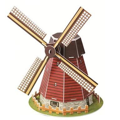 voordelige 3D-puzzels-educatief speelgoed magische puzzel holland Pinwheel model 3d puzzel voor kinderen en volwassen puzzel (20st)