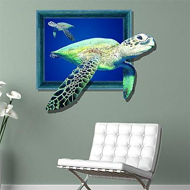 3D Sea Turtles Wall Stickers Wall Decals