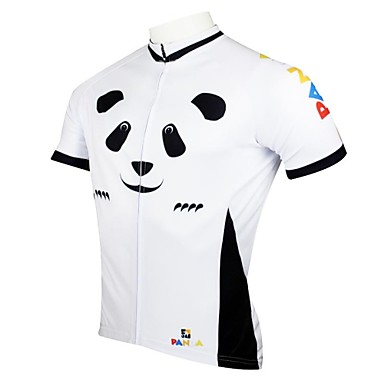 ILPALADINO Men's Short Sleeves Cycling Jersey Cartoon Animal Bike Jersey, Quick Dry, Ultraviolet Resistant, Breathable