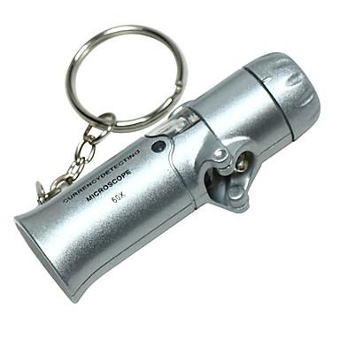 Mini portabil pliant de valuta Detection 60x Microscop cu 2 LED-uri albe Lumini