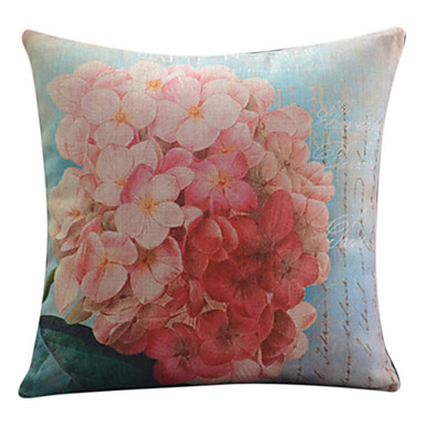 1 pcs Cotton/Linen Pillow Cover,Floral Country